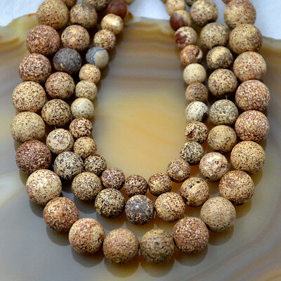 Grey Agate - Natural Gray Bodhi Old Agate Round Loose Beads 15