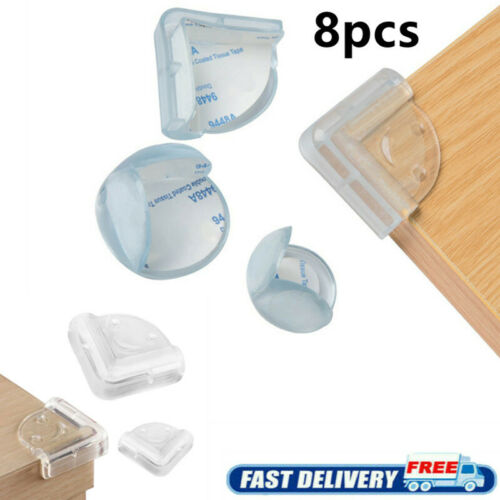 8pcs Silicone Corner Protector Baby Safety Proofing Edge Corner Guards Soft USA