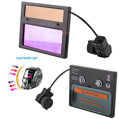 Pro Solar Auto Darkening Welding Helmet Mask Lens Automation Uv Ir Filter Shade