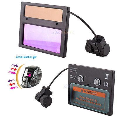 Pro Solar Auto Darkening Welding Helmet Mask Lens Automation UV IR Filter -