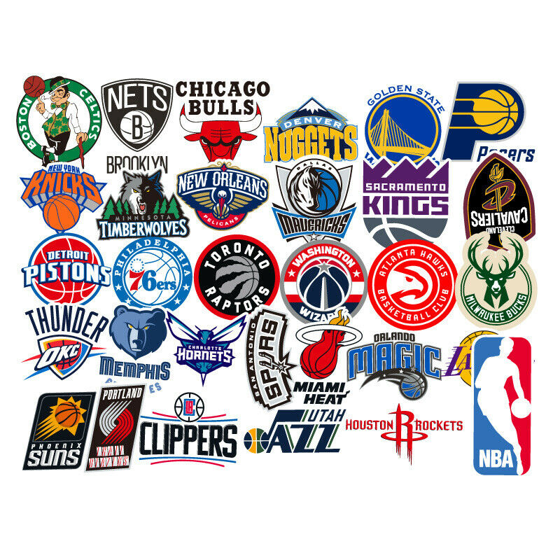 31 NBA Basketball Teams Logo Decals Vinyl Stickers for Skateboard/Luggage/Laptop Basketball-NBA