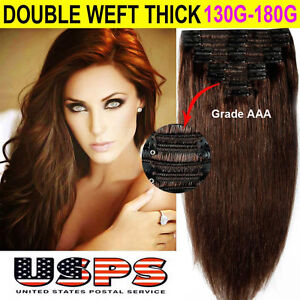 Thick Clip In Remy Human Hair Extensions 28