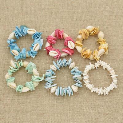 (Beach Baby Shell Bracelet Handmade Bangle Girls Gift Charm Jewelley Multicolor)