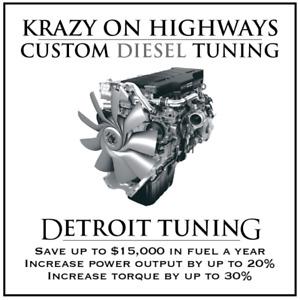 Krazy On Highways Custom Detroit DPF , EGR & UREA Delete Tuning