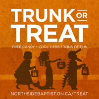 Trunk or Treat! Free Candy • Decorated Cars • Tons of Fun