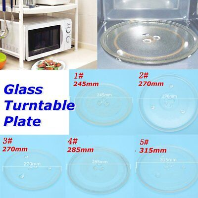 4 Sizes Universal Clear Microwave Oven Glass Turntable Plate Tray Replacement
