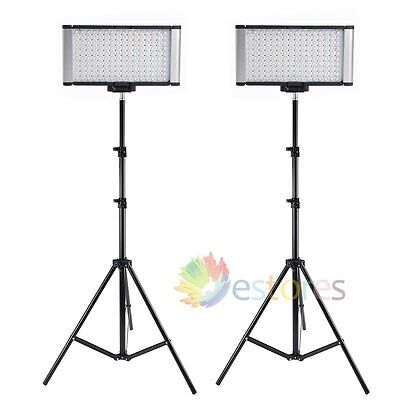 2Pcs VILTROX LED-160S CRI95+ Bi-Color Studio LED Video Light + Light Stand【UK】