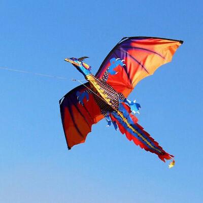 3D Dragon Kite 100M Single Line With Tail Kites Fun Toy Kite