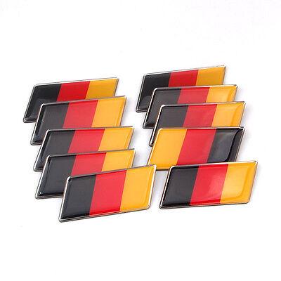 10pcs Aluminum Germany German Rear Emblem Badge Sticker for MK7 MK6 Golf Audi