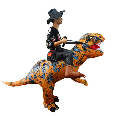 Inflatable Ride on Dinosaur Costume;Unisex; Adult; Waterproof; Halloween/Events