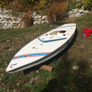 """Sailboat - Voilier """"sunfish"""" RESToRED - priced to sell"""