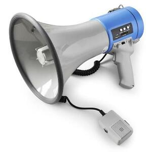 USB-SD-MEGAPHONE-LOUD-HAILER-MICROPHONE-SIREN-25W-MP3-PUBLIC-ADDRESS-BULL-HORN
