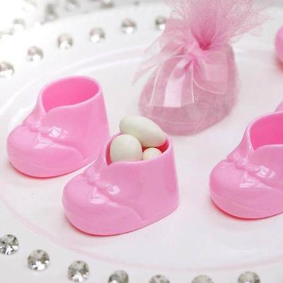 24 pcs Pink Plastic Baby Girl Shower Favors Booties Party Decorations WHOLESALE