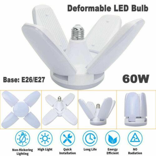 40/60W E27 LED Garage Light Bulb Deformable Ceiling Fixture