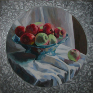 Original painting Art Apples