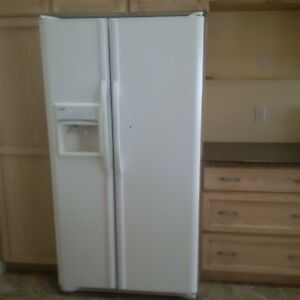 kenmore white side by side fridge for sale.
