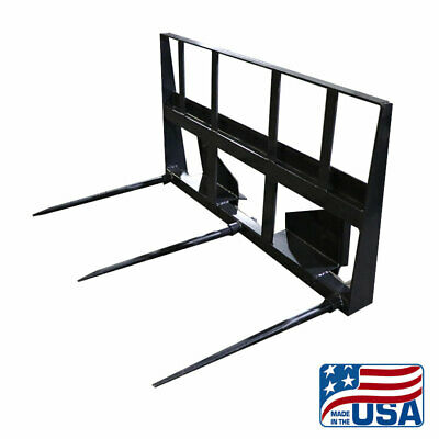 New Heavy Duty Skid Steer Hay Spearbale Spear Assembly3000capacitybobcatetc