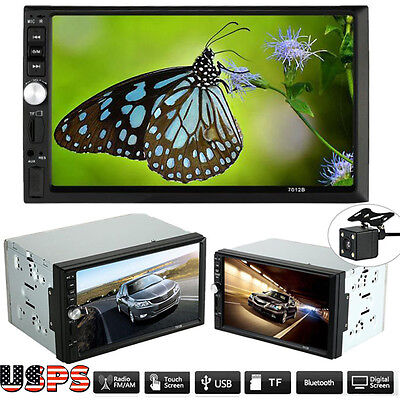 HD Touch Screen Car Stereo MP5 MP3 Player Bluetooth USB AUX+Parking Camera