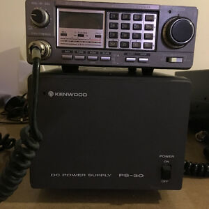Kenwood 2M Transceiver and DC power supply