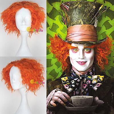 Styled Alice in Wonderland Mad Hatter Cosplay Prop Wig Hair Orange-yellow Sa - Orange Mad Hatter Kostüm