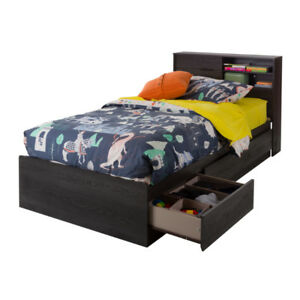 Brand New Fynn 3-Drawer Mate's Bed with Storage Headboard