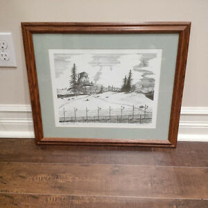 POW Watch Tower CFB Camp Wainwright Signed/Numbered Print
