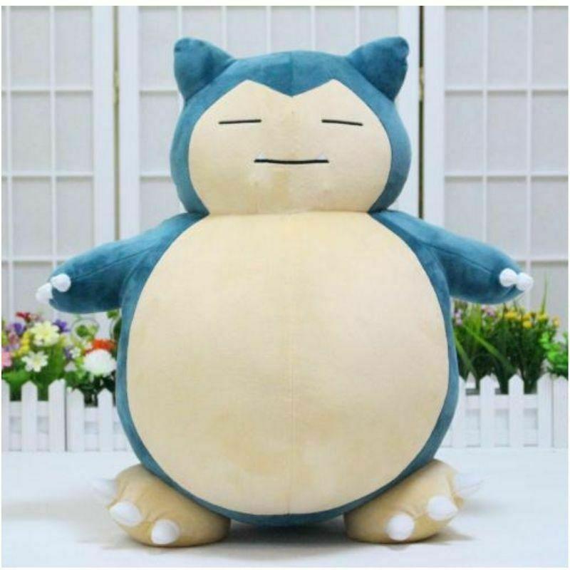 Jumbo SNORLAX Pokemon Center Kabigon Plush Toy Soft Doll 30cm Figure Gift US