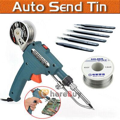 60w Auto Electric Soldering Iron Gun With Flux 2 Solder Wire Tin 50g Tweezer