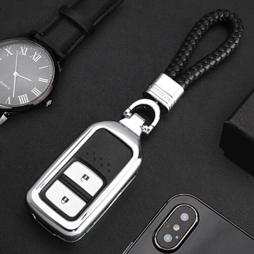 For Honda Civic 2016 2017 2018 Smart Key Black Aluminum Case Cover Holder