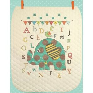 DIMENSIONS Baby Elephant ABC Quilt Stamped Cross-Stitch Kit