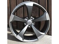 """18"""" New Black Edition Style wheels & tyres suitable for Audi A1, VW Polo, Seat Ibiza ETC"""
