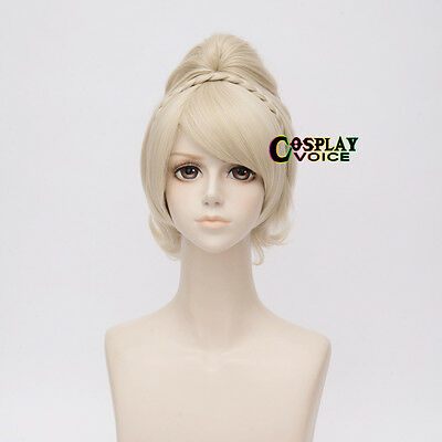 Halloween Final Fantasy XV 15 Lunafreya Nox Fleuret Blonde Manga Cosplay Wig Top