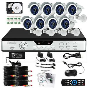 Zmodo 8 CH DVR Indoor Outdoor CCTV Video Surveillance Security Camera System 1TB