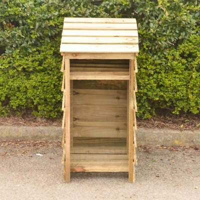 Wooden Log Store narrow for smaller gardens
