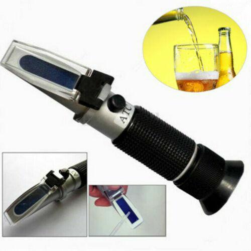 Portable Refractometer Meter ATC 0-32% Brix Beer Wort Specific Gravity Tester US