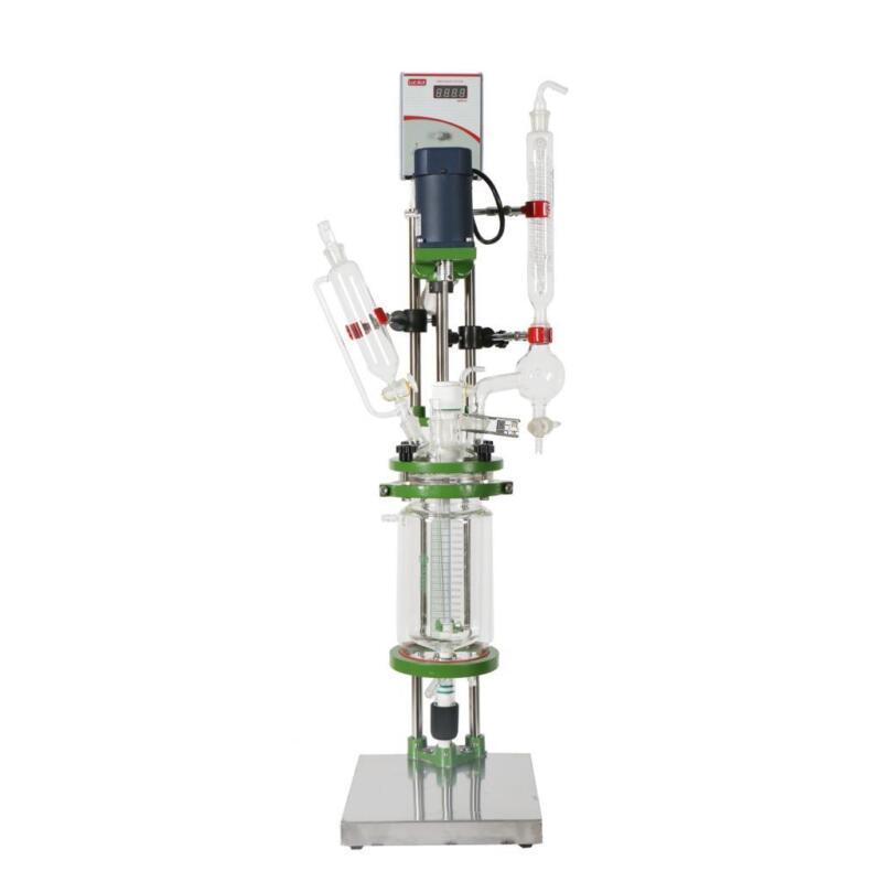 1L Small Jacketed Glass Chemical Reactor,Glass Reaction Vessel