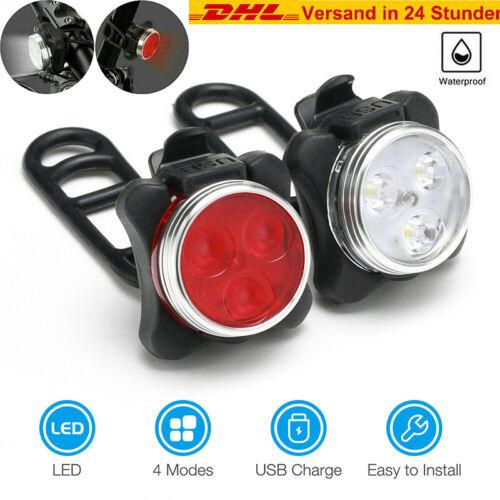 Fahrradlampe LED Fahrradlicht Vorne/&Hinten Beleuchtung Fahrrad Warnung Rücklicht