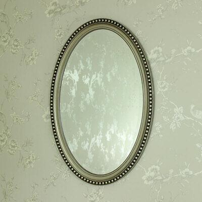 Champán Ovalado Espejo de Pared Retro Vintage Elegante Baño Niña Dormitorio Casa