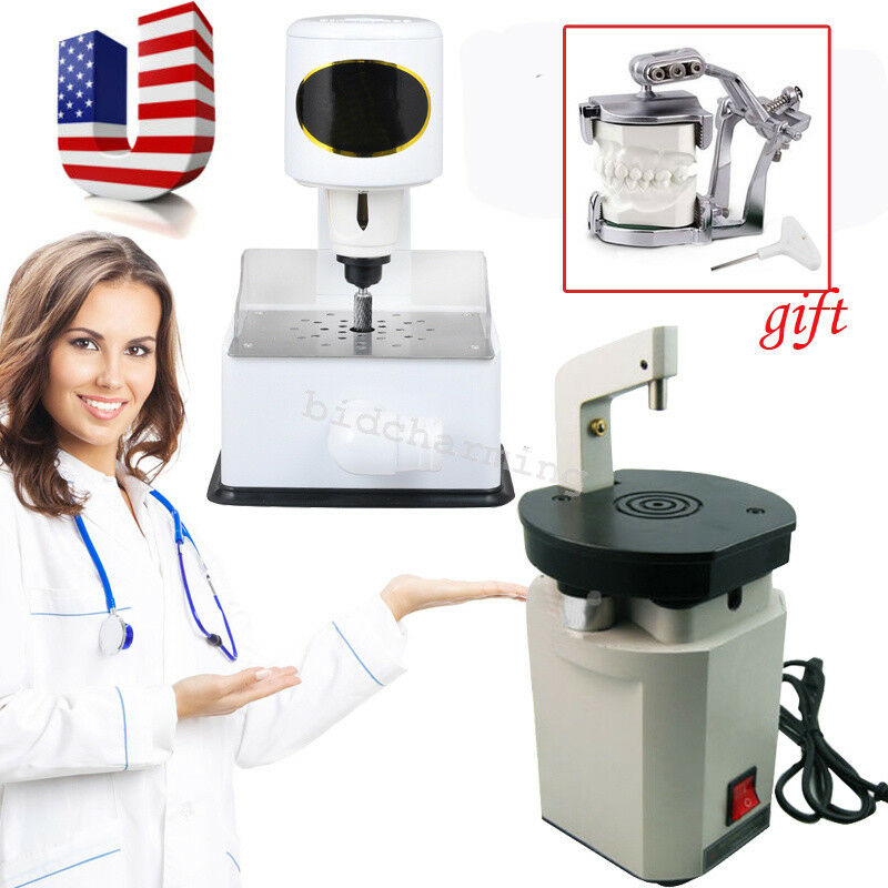 US Dental Laser Pindex Drill Pin + Grind Inner Model Arch Trimmer Machine + GIFT