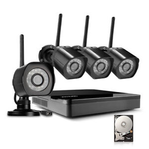 Zmodo 4 Channel NVR 720p HD Wireless Outdoor Video System