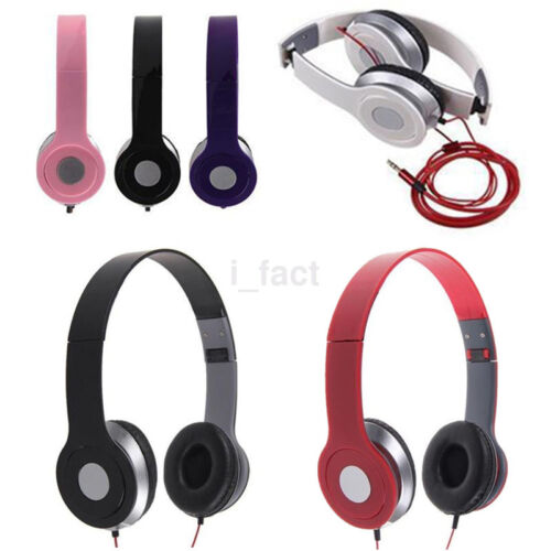New 3.5mm Music Stereo Headphone Earphone Headset for Cellphone Samsung iPhone