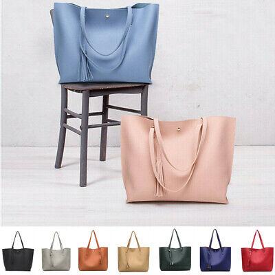 Women Synthetic Leather Handbag Ladies Shoulder Bag Purse Messenger Tote Satchel