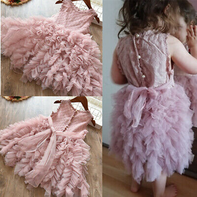 Baby Kids Girl Party Dress Tutu Fluffy Birthday Dresses For Girls Summer Clothes](Birthday Dresses For Girls)