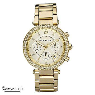 Original Michael Kors MK5354 Damen Uhr Zirkonia Goldfarben *NEU&OVP*