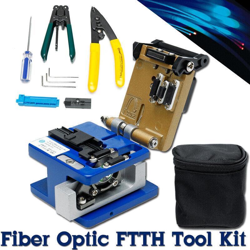 Portable Fiber Optic FTTH Tools Kits FC-6S Fiber Cleaver Optical Power Meter