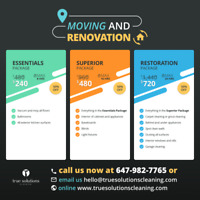 Home Cleaning 50% OFF! Moving/Reno/Carpet  - Fast Availability