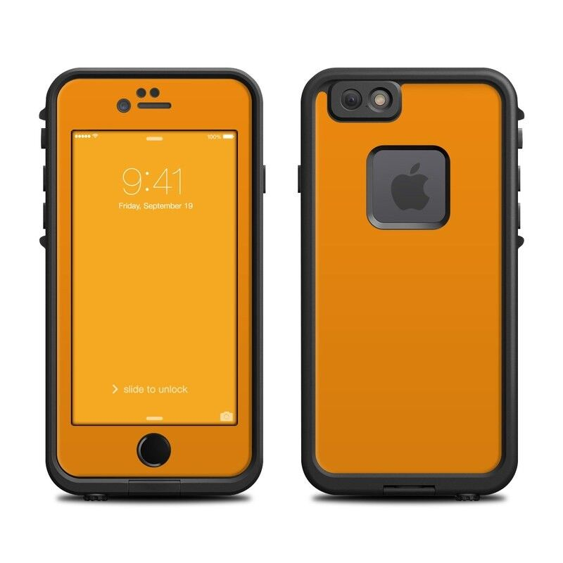 Skin for LifeProof FRE iPhone 6/6S - Solid Orange - Sticker Decal