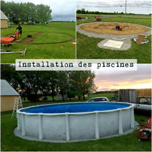 Above the ground pool - Liner change, installations