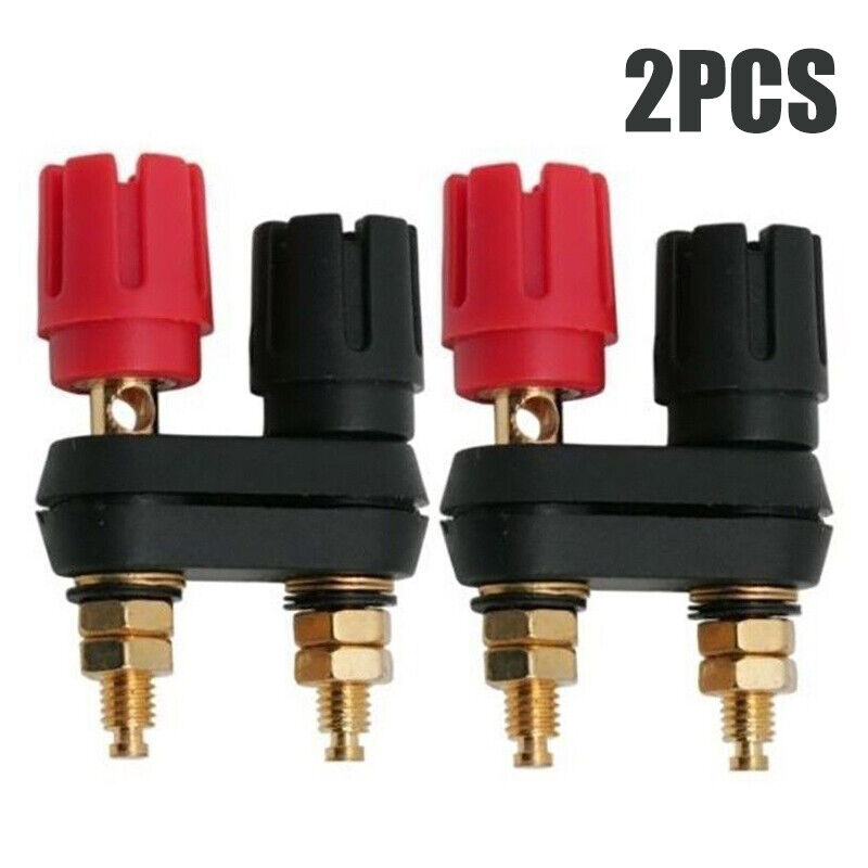 2X Dual Female Banana Plug Terminal Socket Binding Post for