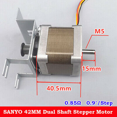 Sanyo Nema17 2-phase Stepper Motor 0.9 Deg 42mm Dual Shaft Mxl Synchronous Gear